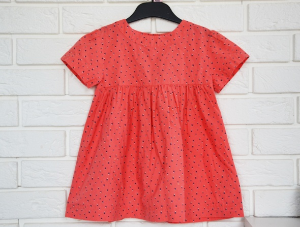 Pomarańczowa bluzka dla dziewczynki r 116 cekiny falbanka