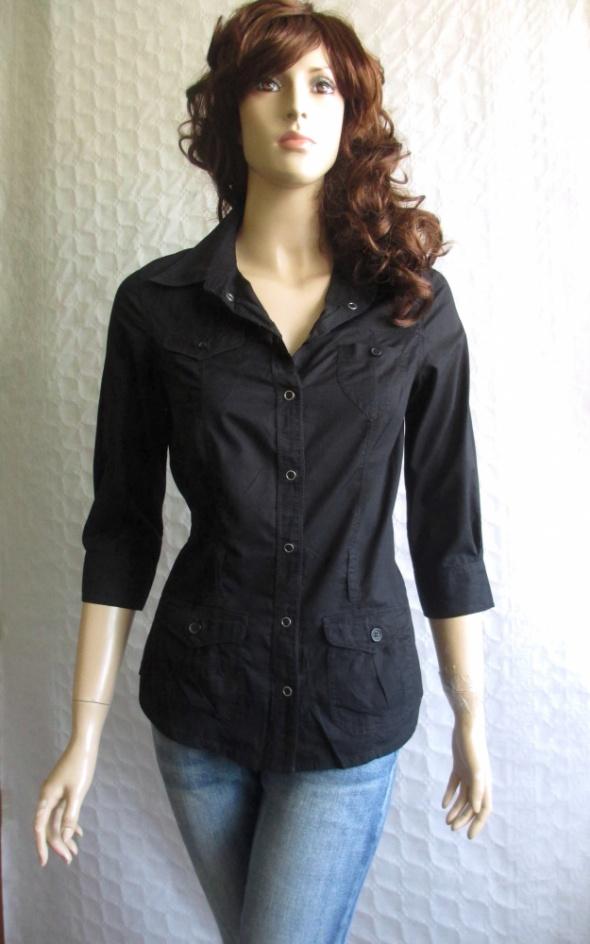 770d120785 HM czarna koszula bluzka 36 w Koszule - Szafa.pl