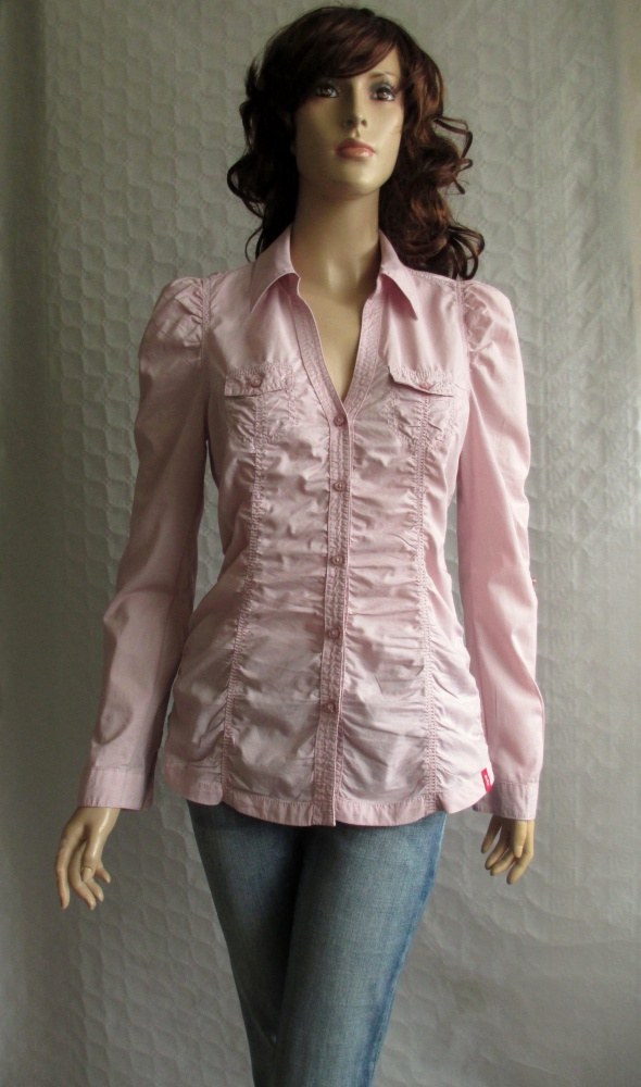 Esprit koszula marszczona pudrowy róż roll 36...