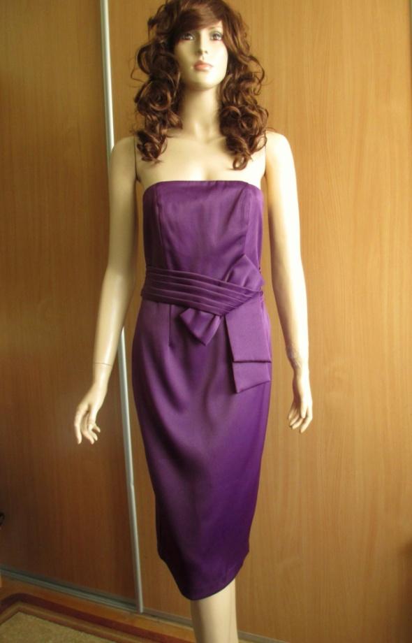 M&CO fioletowa sukienka wieczorowa nowa 38 40...