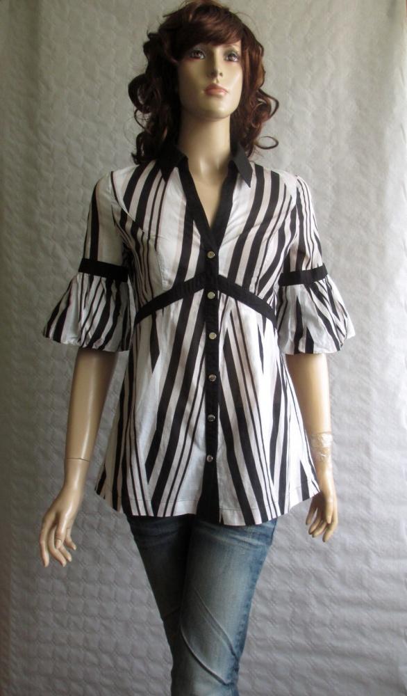KAREN MILLEN koszula bluzka bufki elegancka 36