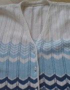Rozpinany sweterek z krótkim rękawem r M...
