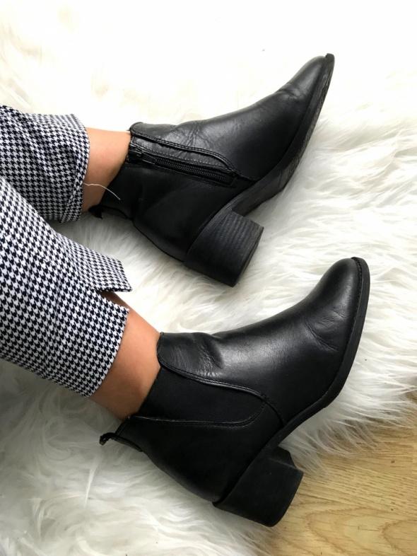 Idealne botki Tamaris skóra naturalna 37 czarne buty paragon gwarancja eobuwie