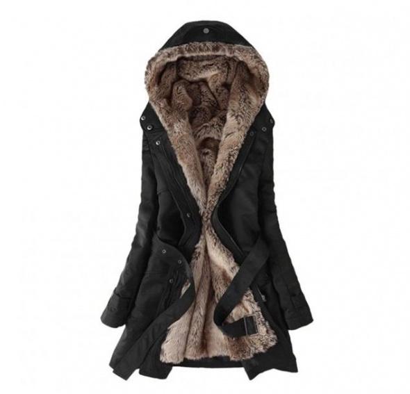 Kurtka płaszczyk z futrem 48 50