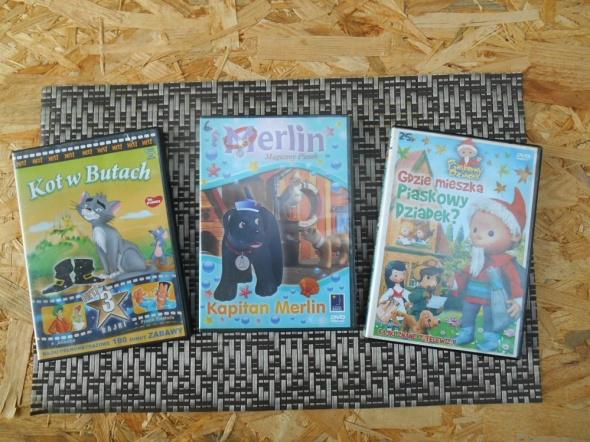 3 Bajki na DVD Merlin Kot w butach 3 w 1 Gdzie mieszka piask