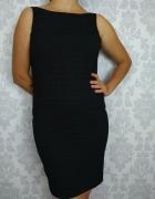 szara elegancka biurowa sukienka w kratkę do pracy nowa Eleganc...