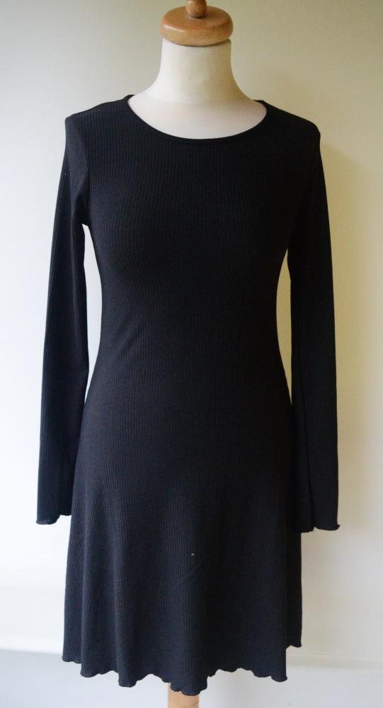 Sukienka Czarna Prążki H&M M 38 Elegancka