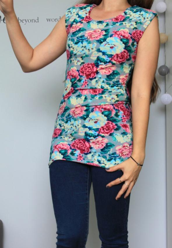 kwiatowa tunika sukienka modna