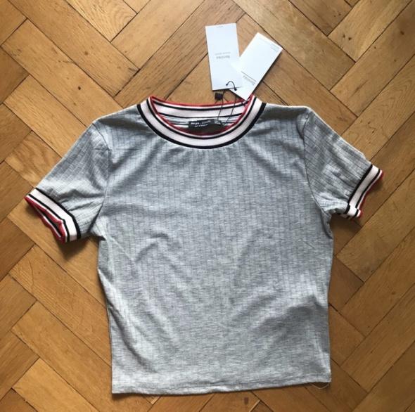 Koszulka Bershka NOWA szara z gumkami