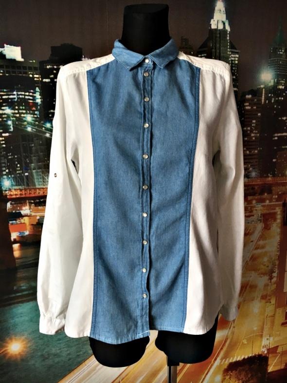 reserved koszula biała jeansowa modna casual 40 L
