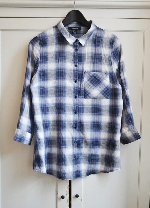 Koszula oversize krata kratka L XL 40 42