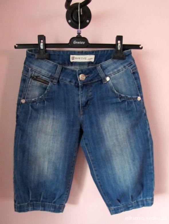 jeansowe bermudy