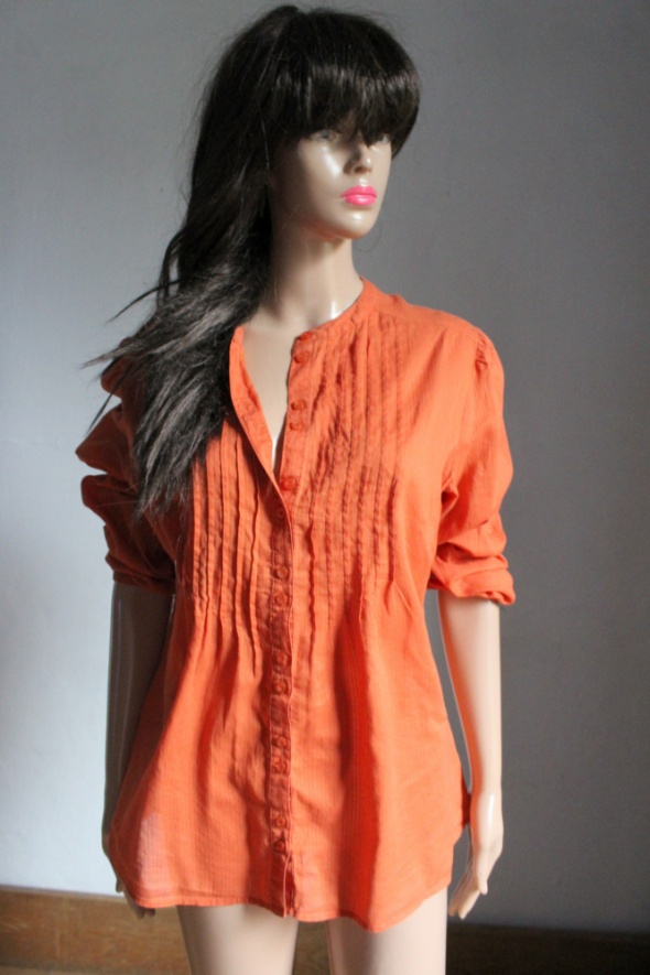 Pomarańczowa koszula w prążki idealna na ciążę r około M...