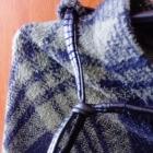 Ciepła spódnica maxi w kratę