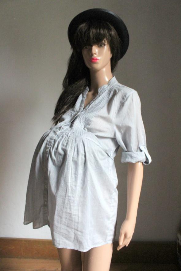 Koszula w paski odcinana pod biustem idealna na ciążę r S