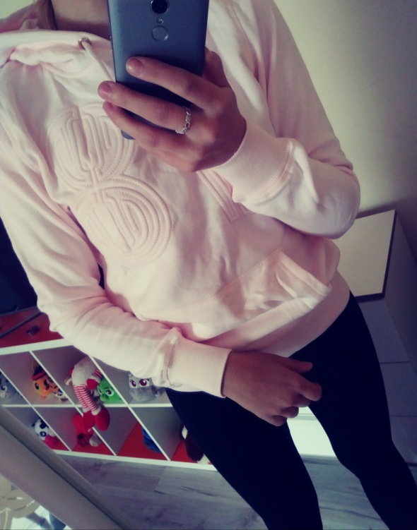 Bluza H&M Pastelowy RÓŻ nowa 36 38 S M