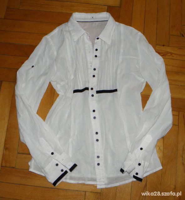 biała koszula house 36 38 bawełna