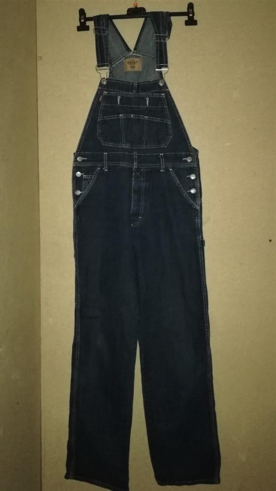 Czarne jeansowe męskie ogrodniczki ROCKY 38 M Skat