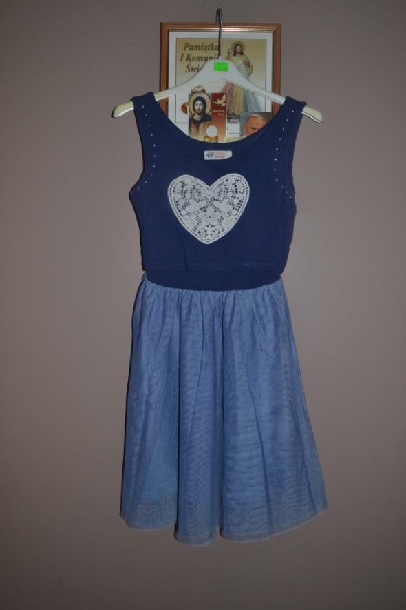 e9b24ad78a Sukienka HM 134cm 140cm 146cm 9 10 11 lat w Sukienki i spódniczki ...