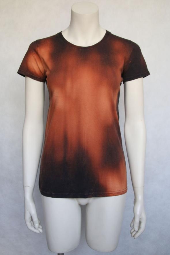 damska koszulka reverse tie dye S