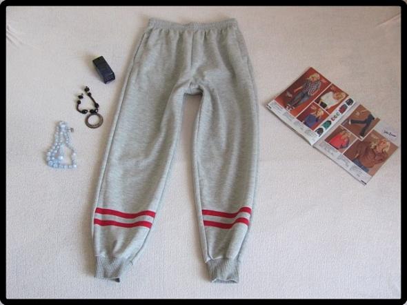 szare cieplejsze spodnie dresowe dresy rozmiar L