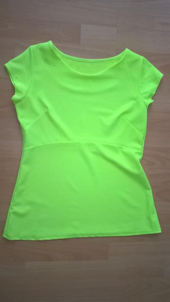 Bluzka neonowa żółta