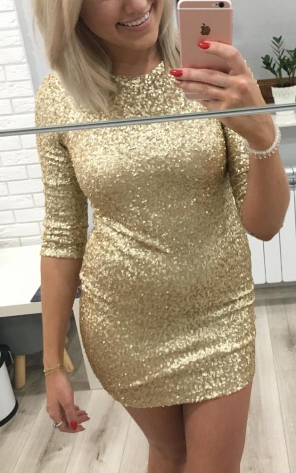 złota sukienka s