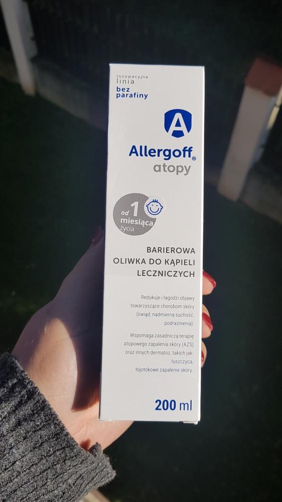 Allergoff Atopy Barierowa oliwka do kąpieli leczniczych