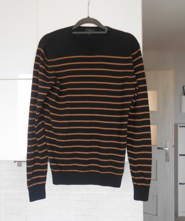 COS nowy sweter paski wełna merynosów wełniany