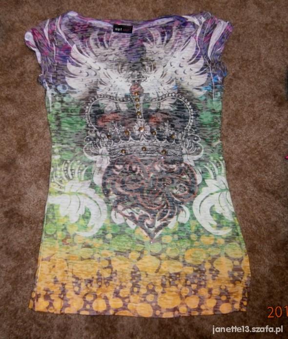 Śliczna kolorowa bluzeczka S