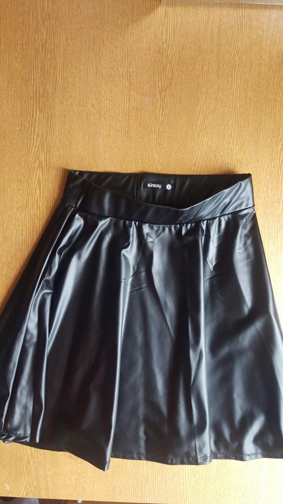 Nowa skórzana spodnica sin say czarna s...