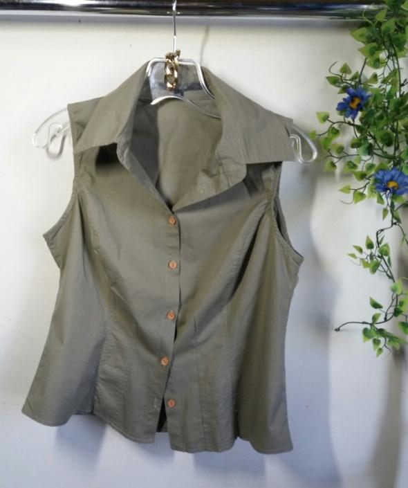 bluzka zielona khaki r S M H&M zara
