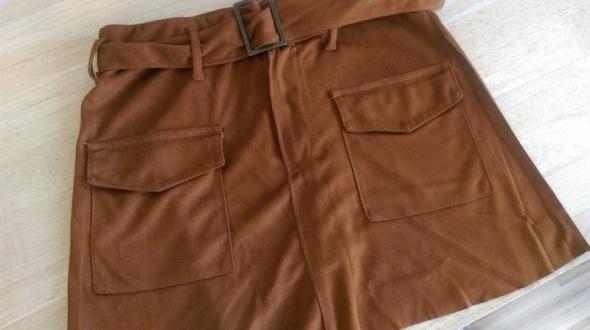 Spódnice Brązowa spódnica zamszowa