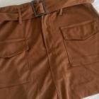 Brązowa spódnica zamszowa