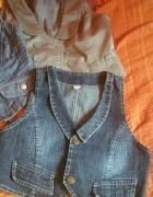 Jeansowe kamizelki...