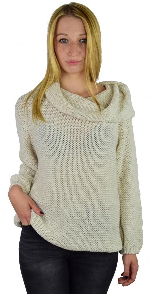 Luźny miękki sweter oversize kolory Uni...