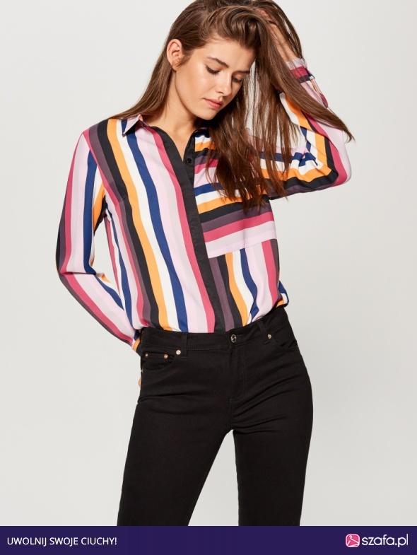 koszula w kolorowe paski...