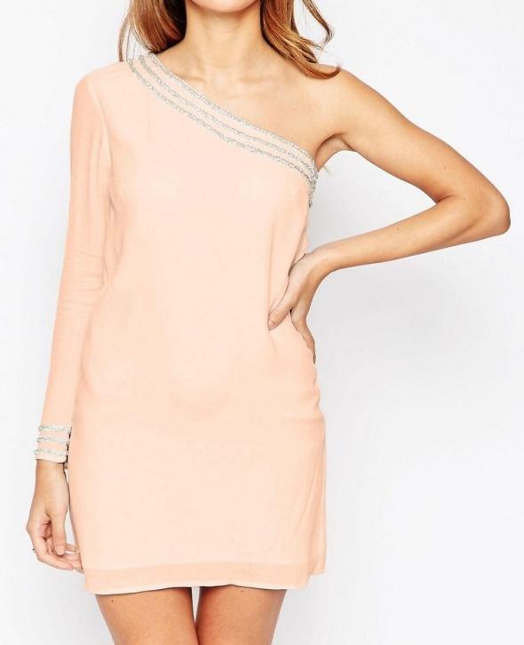 Nowa z metką Asos sukienka mini krótka rękaw...