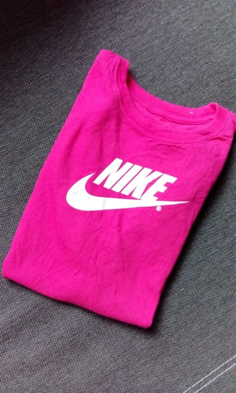 Koszulka Nike różowa logo