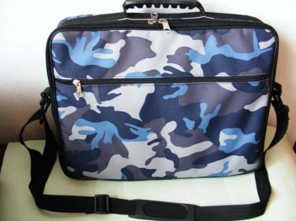 Marmurkowa torba na ramię do szkoły pracy lapt0p
