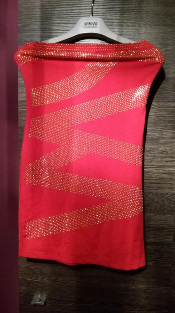 sexi czerwono złota krótka sukienka