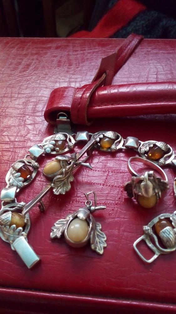 srebrny dębowy pierścionek
