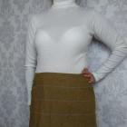 Krótka mini spódniczka wełniana w kratkę Joules z kieszeniami
