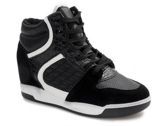 Sportowe Sneakersy buty na koturnie 38 Nowe