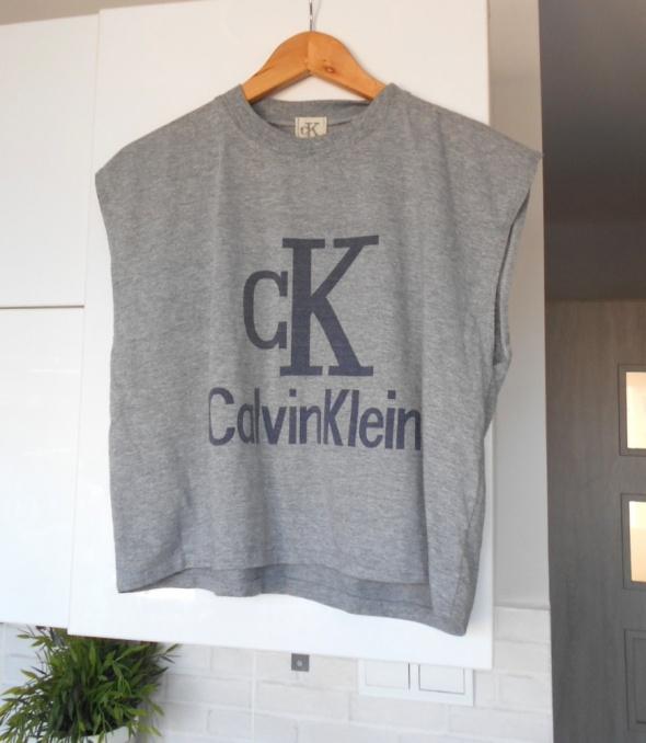 Calvin Klein szara koszulka tshirt oversize klasyka...