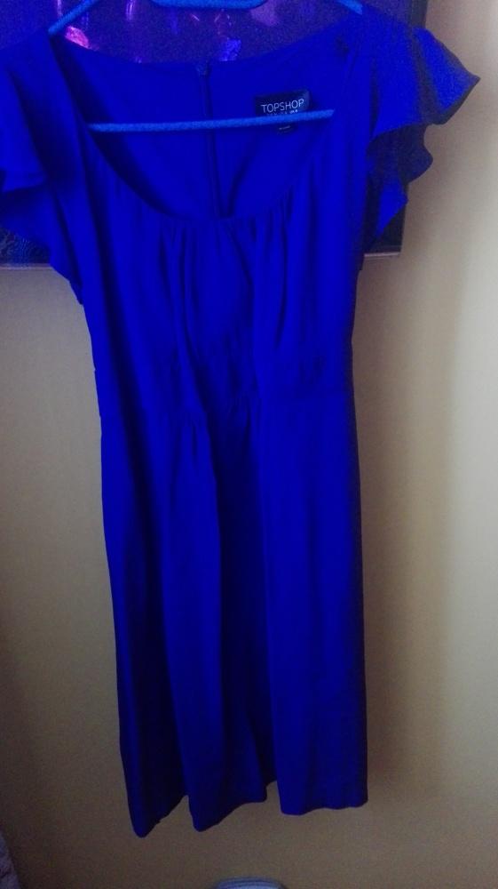 szafirowa sukienka...