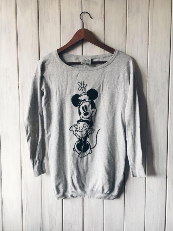 dłuższy szary sweter Minnie S...