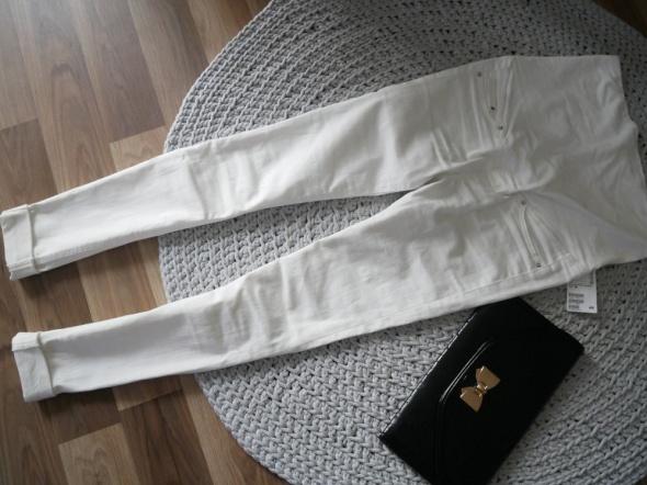 Ciążowe rurki jeans białe H&M Nowe...