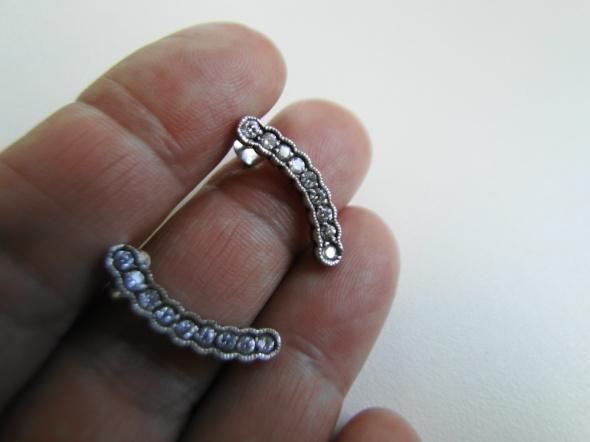 Piękne kolczyki cyrkonie jak brylanty w srebrze 925