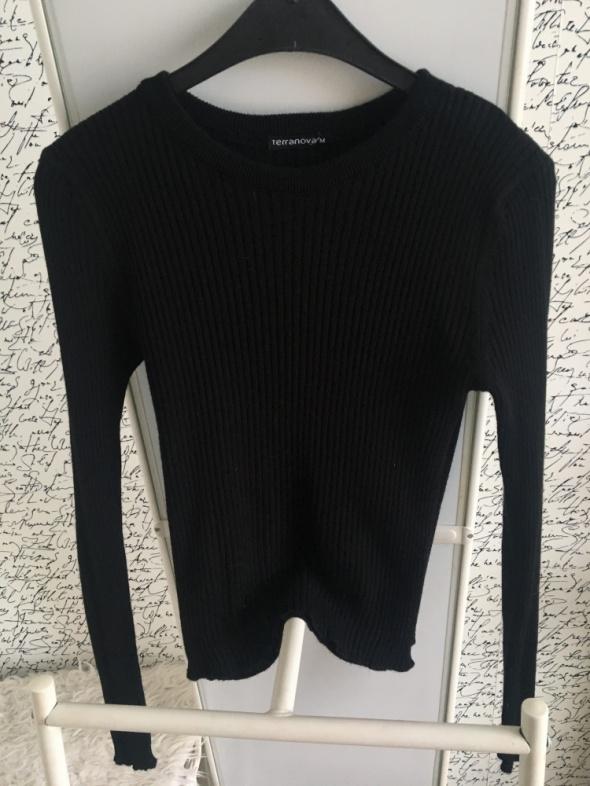 Cudny czarny sweterek prążek
